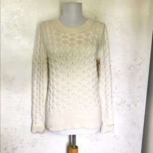 J. Crew Honeycomb Angora Blend Sweater SZ M
